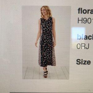 J.Jill floral knit maxi dress